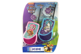 Paw Patrol Kids Walkie Talkie 5y+ 2-Way Radio Game Children Outdoor Toy Pink/Blu