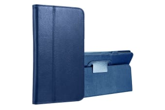 For Samsung Galaxy Tab A 8.0 SM-T380 T385 Case Lychee Leather Cover DarkBlue