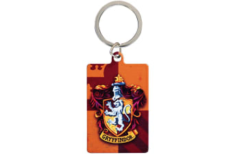 Harry Potter Gryffindor Metal Keyring (Orange) (One Size)