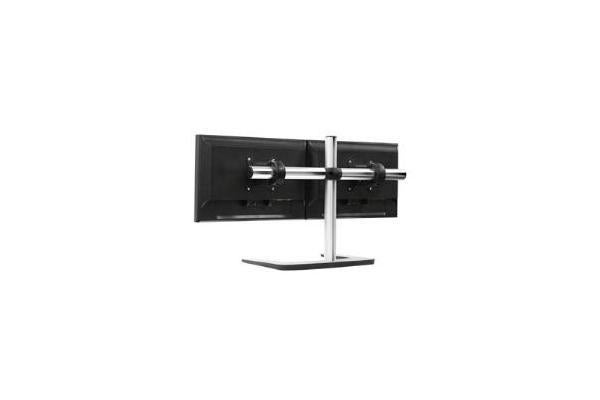 ATDEC Visidec Freestanding - Double Horizontal Desk Mount (Two Monitors)