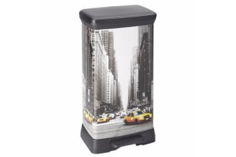 Curver 50lt Rectangular Kitchen Pedal Bin (New York)