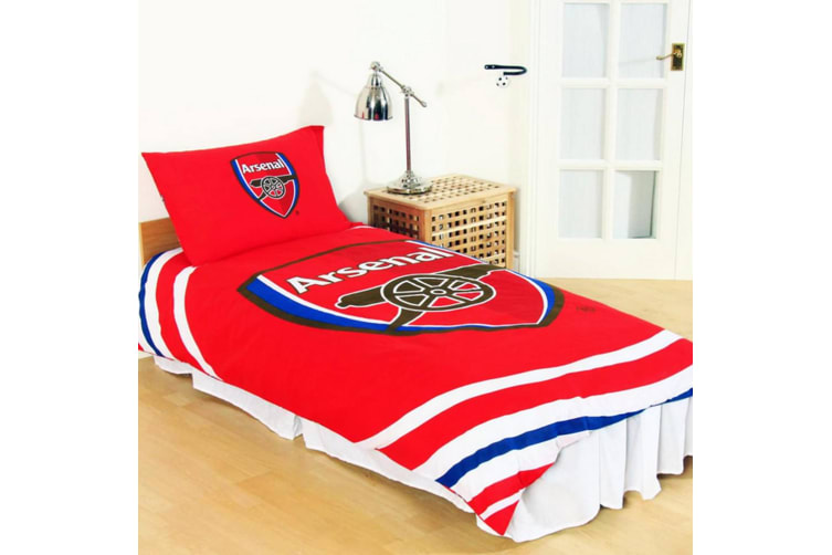 Arsenal FC Reversible Pulse Duvet Set (Multicoloured) (Double)