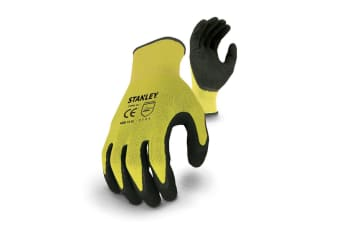 Stanley Unisex Hi-viz Gripper Safety Gloves (Yellow Blue)