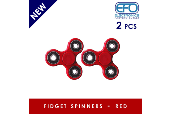 2Pcs 3D Hand Spinner Fidget Toy Stress Reliever Fast Bearing Gear Spin Abs Red 2X