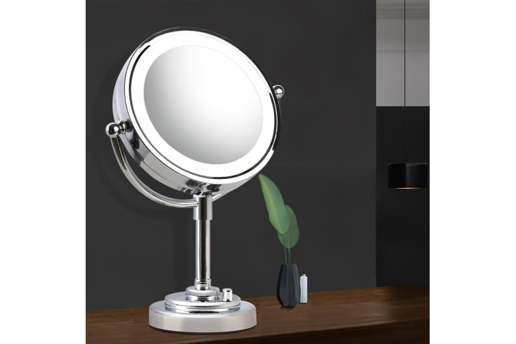 Embellir Double Side 10X Magnifying Makeup Mirror Stand With LED Lighted Vanity Mirror
