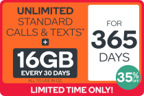 Kogan Mobile Prepaid Voucher Code: EXTRA LARGE (365 Days | 16GB Per 30 Days) - 35% Off