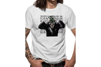 Batman Unisex Adults Sinister Joker T-Shirt (White)