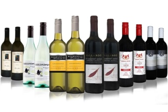 Festive Christmas Red & White Wines Mixed - 12 Bottles
