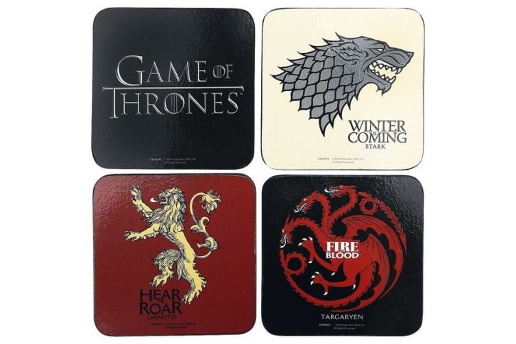 Game Of Thrones Coaster Set (Multicoloured) (One size)