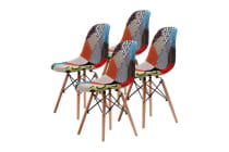 Replica Eames DSW Dining Chair - MULTI-COLOUR X4