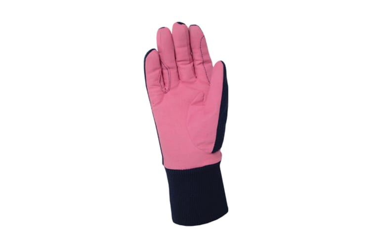 Little Rider Childrens/Kids Riding Star Winter Gloves (Rapture Rose/Navy) (X-Large)