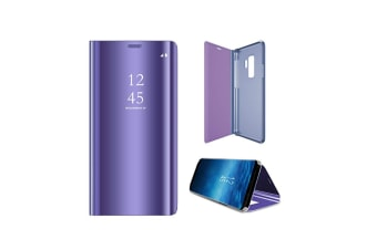 Mirror Case Translucent Flip Full Protection Stand For Samsung Purple Samaung J6+(2018)