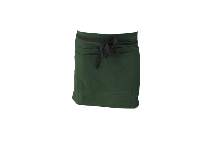 Dennys Ladies/Womens Short Bar Workwear Apron (Pack of 2) (Bottle Green) (One Size)