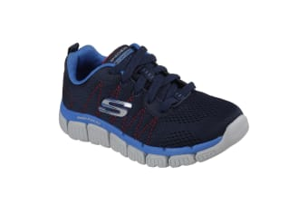 Skechers Childrens Boys Skech-Flex 2.0 Quick Pick Lace-Up Trainers (Navy/Blue) (11.5 Child UK)