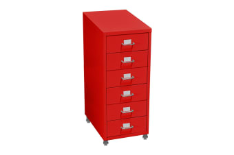 3/4/6 tiers Steel Orgainer Metal File Cabinet With Drawers Office Furniture AU  -  6 DRAWERS-RED