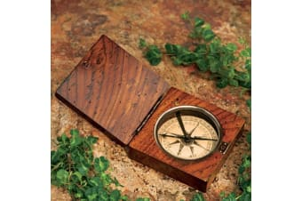 Lewis & Clark Replica Compass – Rosewood Display Box Antique Vintage Historical Décor Navigation