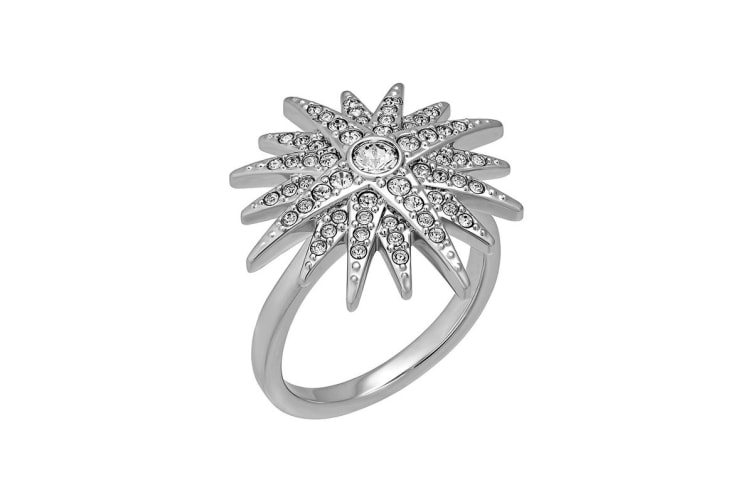 Swarovski Balthus Rhodium, Clear Crystal Star Ring (Size 7)