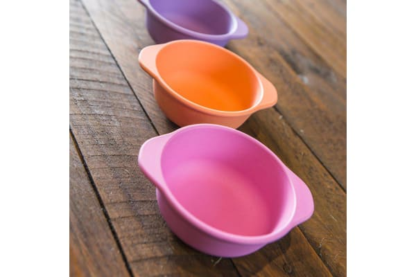 Bobo & Boo Girls Bamboo Snack Bowl Set 4pc
