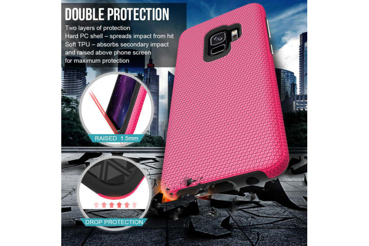 For Samsung Galaxy S9 Case  Pink Armor Shockproof Protective Slim Phone Cover