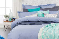 Bambury Charleston Quilt Cover Set Blue