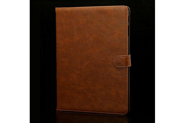 Luxury Leather Smart Case Cover For Samsung Galaxy Tab S4 10.5'' T830 T835-Brown