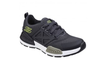 Skechers Childrens Boys SK97671L Kinectors Nanovault Sports Shoes/Trainers (Black/Grey) (12.5 Childs UK)