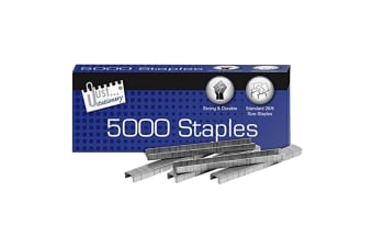 Just Stationery Size No 26/6 Staples (Pack Of 5000) (Silver) (One Size)