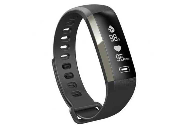 """Bluetooth V4.0 Fitness Band Watch 0.96"""" Oled Blood Oxygen Heart Rate Ip67 Grey"""