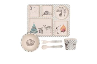 Love Mae Bamboo Dinner Set 5pc Forest Feast