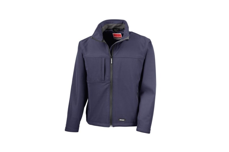 Result Mens Classic Softshell Breathable Jacket (Navy Blue) (L)