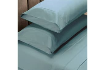 Renee Taylor 1500 Thread Count Pure Soft Cotton Blend Flat & Fitted Sheet Set - King - Mist