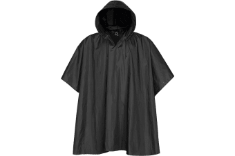 Stormtech Unisex Packable Water Resistant Rain Poncho (Black) (One Size)