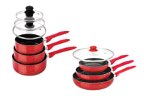 StoneChef 10 Piece Marble Ceramic Cookware Set (Red)