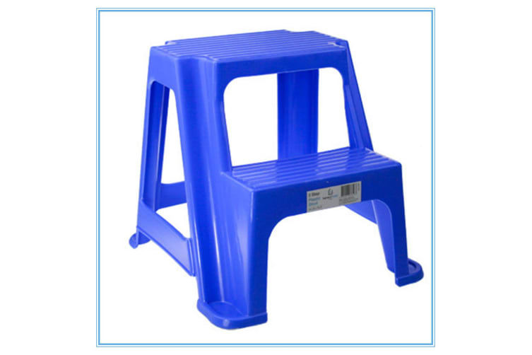 Remarkable Blue Kitchen Portable Plastic 2 Step Stool Steps Bathroom Kids Toilet Training 36Cm Cjindustries Chair Design For Home Cjindustriesco