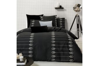 Zia Jacquard Cotton Quilt Cover Set Queen by Designers Choice