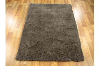 Texture Shag Rug Dark Brown