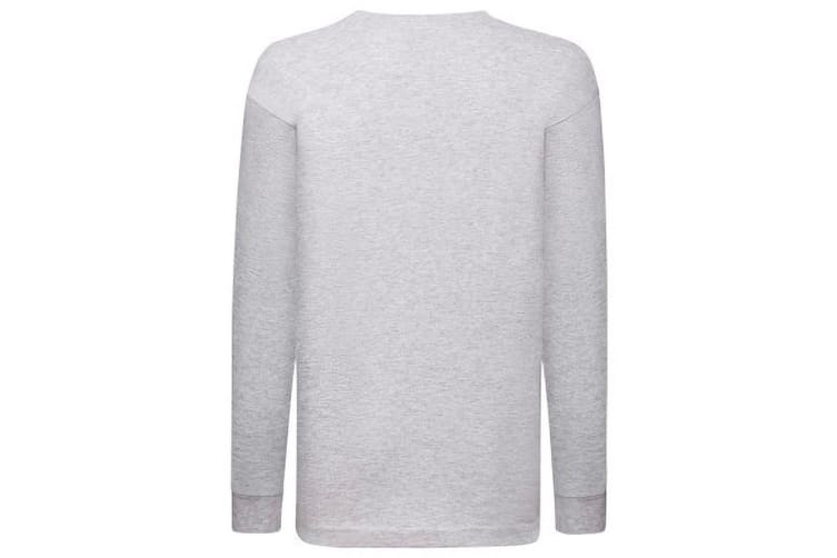 Fruit Of The Loom Childrens/Kids Long Sleeve T-Shirt (Pack of 2) (Heather Grey) (14-15)