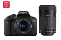 Canon EOS 750D DSLR Camera with 18-55mm IS STM and 55-250mm IS STM Movie Twin Len Kit