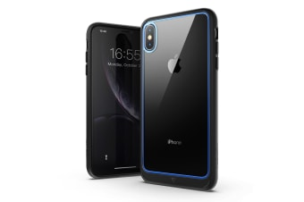 MAXSHIELD Heavy Duty Shockproof Slim Cover for iPhone X/XS-Blue