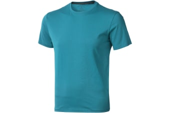 Elevate Mens Nanaimo Short Sleeve T-Shirt (Aqua) (XL)