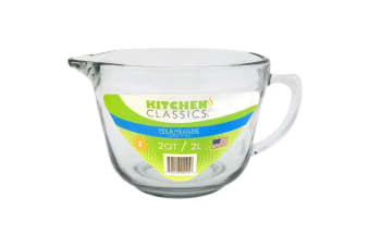 Kitchen Classics 2L Glass Batter Bowl Baking Tool Mixing Bowl