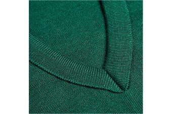 Hard Yakka Men's Wool/Acrylic V-Neck Jumper (Bottle Green, Size XXS)