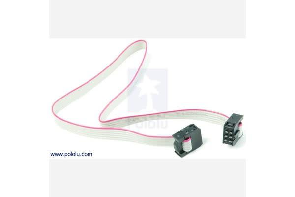"IDC socket: 2x3-Pin, 0.100"" (2.54 mm) Female"