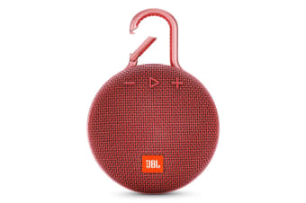 JBL Clip 3 Portable Bluetooth Speaker With Carabiner - Red