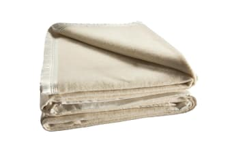 Bianca 480GSM Wool Blanket (Cream)