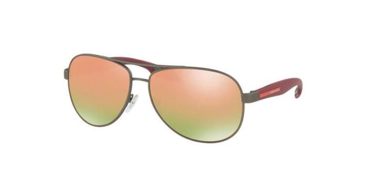 a35d5066d6ee ... germany dick smith prada linea rossa ps53ps gunmetal rubber grey mirror  rose gold polarised lens mens