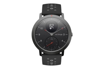 Withings Steel HR Sport 40mm (Black, Black Band)