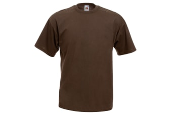 Fruit Of The Loom Mens Valueweight Short Sleeve T-Shirt (Chocolate)
