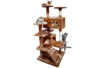 Cat Scratching Post Tree 1.3m Brown