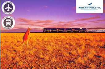 THE INDIAN PACIFIC: 5 or 6 Day Luxury Rail Package Including Flights for Two